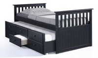 Broyhill Kids Marco Island Collection Captain's Espresso Bed with Trundle Bed and Drawers