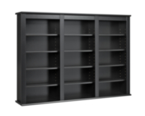 Triple Wall Mounted Storage Black