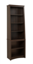 Tall Slant-Back Bookcase Espresso