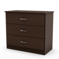 Commode à 3 tiroirs collection Smart Basics de Meubles South Shore Chocolat
