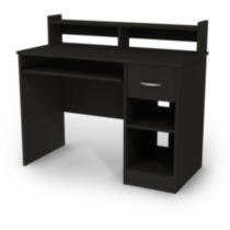 Bureau de travail collection Smart Basics de Meubles South Shore Noir