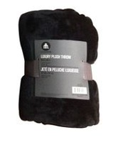 hometrends Luxury Royal Plush Throw - Black