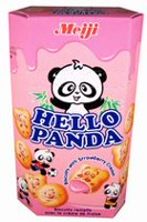 Meiji Hello Panda Strawberry Cookies