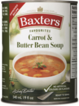 Baxters Favorites Carrots and Butter Bean soup, 540 ml