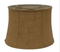 "Home Trends 14.25"" Burlap Drum Lamp Shade"