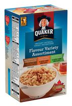 Quaker Flavour Variety Instant Oatmeal