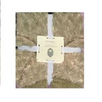 George baby Polyester Hooded Blanket Taupe