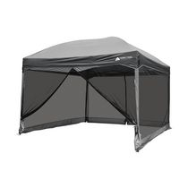 Ozark Trail 11 feet x 11 feet Straight Wall Instant Canopy with Full Mesh Curtain