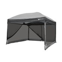 Ozark Trail 11' x 11' Straight Wall Instant Canopy with Full Mesh Curtain