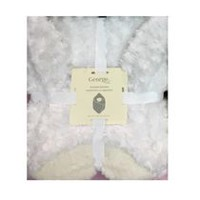 George baby Polyester Hooded Blanket Arctic White