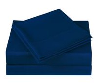 Mainstays Microfiber Solid Sheet Set Navy Twin