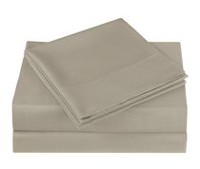 Mainstays Microfiber Solid Sheet Set Tan Twin