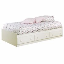 South Shore Summer Breeze Collection Twin Mates Bed White