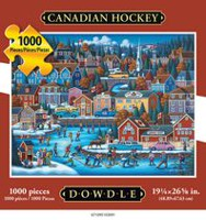 Americana Art Canadian Hockey Jigsaw Puzzle
