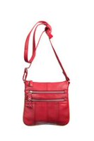 Champs Leather Metal Zipper Bag Red