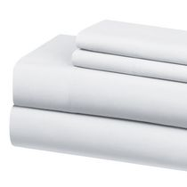 Mainstays 250 Thread Count Cotton Rich Sheet Set White