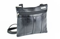 Champs Leather Cross Body Bag Black