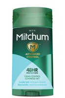 Mitchum Men's Advanced Control Invisible Solid Clean Control Anti-Perspirant and Deodorant Stick