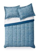 Mainstays Blue Grid Comforter Set Twin