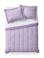 Mainstays Purple Grid Comforter Set Twin