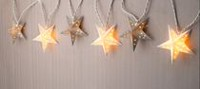 Mainstays White and Silver Star String Lights