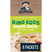 Quaker Dino Eggs Brown Sugar Instant Oatmeal