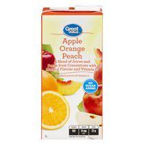 Great Value Apple Orange Peach Juice Blend 1L