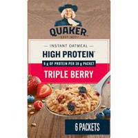 Quaker High Protein Triple Berry Instant Oatmeal