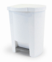 Mistral® 19L Step Can - White