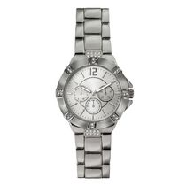 Fashion Watches Women's Silver Tone Watch with Glitz Details