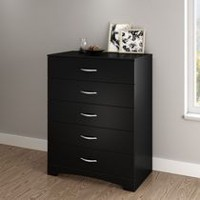 South Shore SoHo Collection 5-Drawer Chest Black