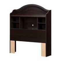 "South Shore Summer Breeze Twin Bookcase Headboard (39"") Chocolate"