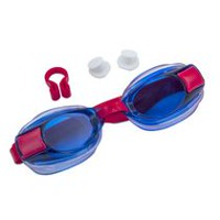 Dolfino 3-Piece Child Blast Swim Goggle Set Red