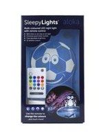 Veilleuses DEL Aloka Sleepy Lights Football aux couleurs multiples