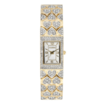 Elgin Ladies' Goldtone Watch with Hearts