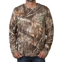 Realtree Men's Long Sleeve Wicking T-Shirt L