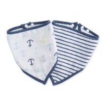 ideal baby by the makers of aden + anais Stripe and Sail Bandana Bibs