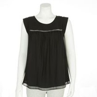George Women's Peasant Top Black XL