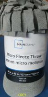 Mainstays Micro Fleece throw Grey