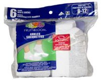 Socquettes Fruit of the Loom pour hommes en paq. de 6 paires Blanc
