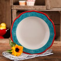The Pioneer Woman Happiness 10.5-inch Scallop Shape Dinner Plate