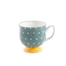 The Pioneer Woman Flea Market 15 oz. Green Dots Footed Mug