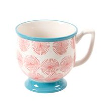 The Pioneer Woman Flea Market 15 oz. Happiness Red/Turquoise Decorated Mug