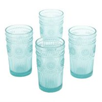 The Pioneer Woman Adeline 16 oz. Emboss Glass Tumbler