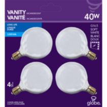 Incandescent G16.5 40W Clear 4CD