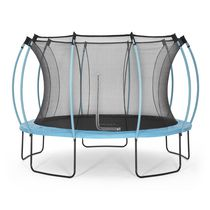 Plum® 12ft Colours Springsafe® Trampoline and Enclosure - Reversible Flamingo Pink and Tropic Turquoise