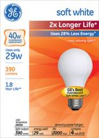 GE Energy-Efficient Soft White 29W A19 4 PK