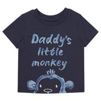 George British Design Baby Boys' Daddy's Monkey Short Sleeved T-Shirt 3-6 months