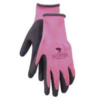 Outdoor Angler Rubber Coated Gloves Pink