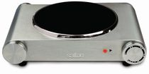 Salton Portable Infrared Cooktop, Stainless Steel, 1200W, HP1502